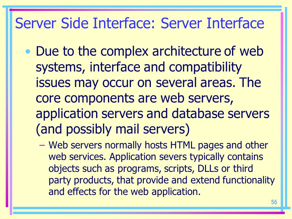 Server Side Interface: Server Interface