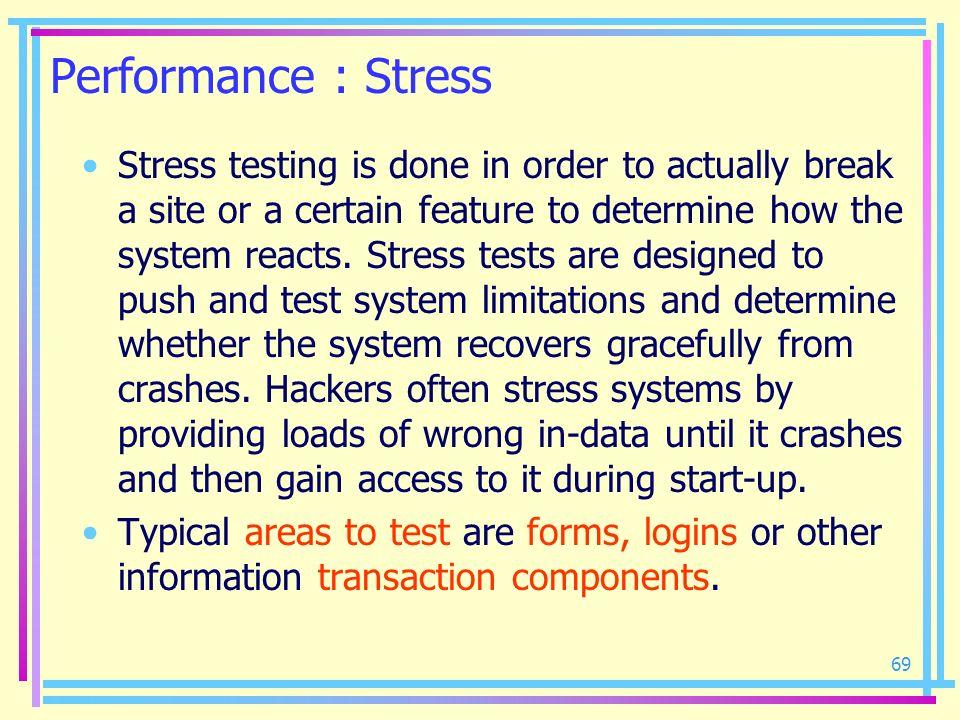 Performance : Stress