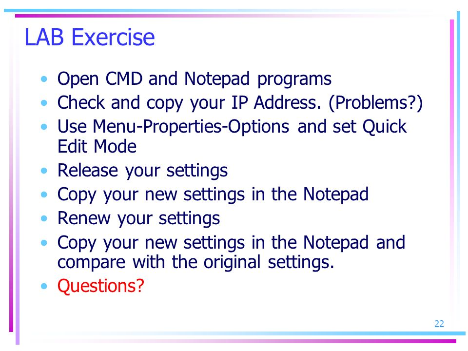 LAB Exercise Open CMD and Notepad programs