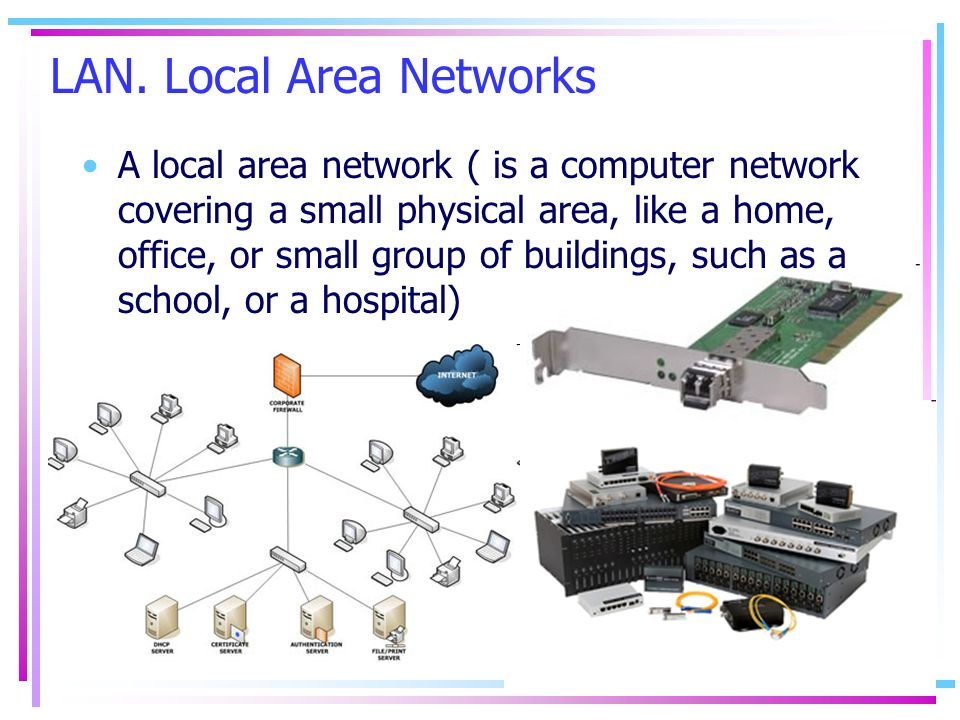 LAN. Local Area Networks