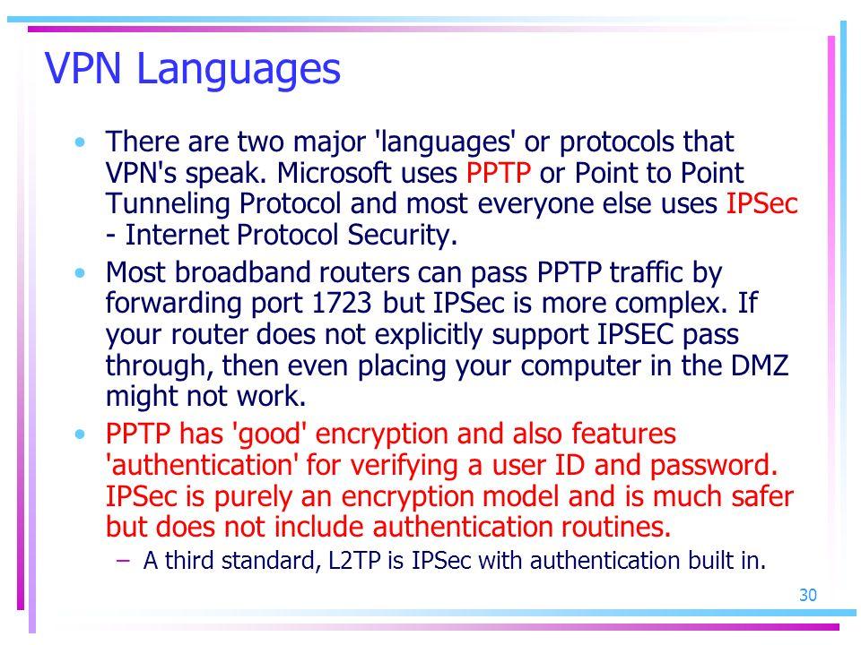 VPN Languages