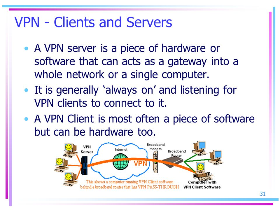 VPN - Clients and Servers