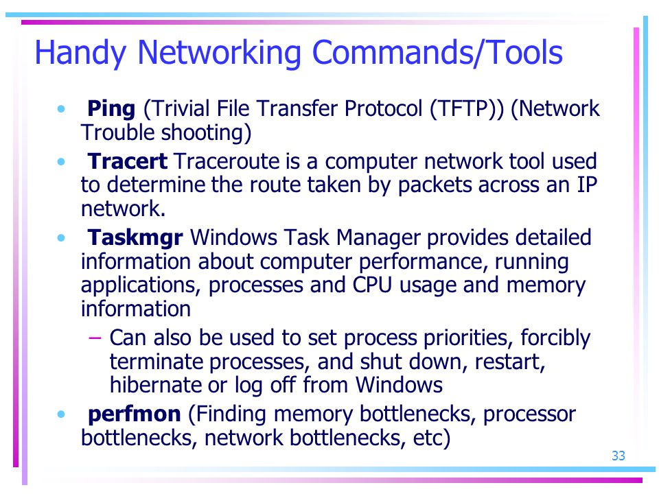 Handy Networking Commands/Tools