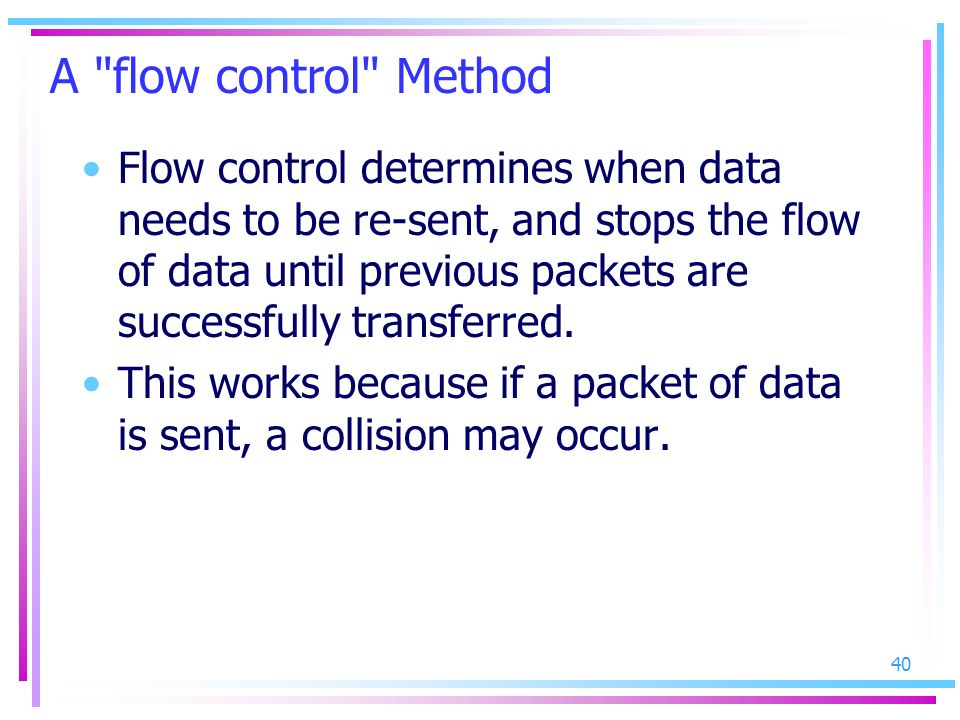 A flow control Method