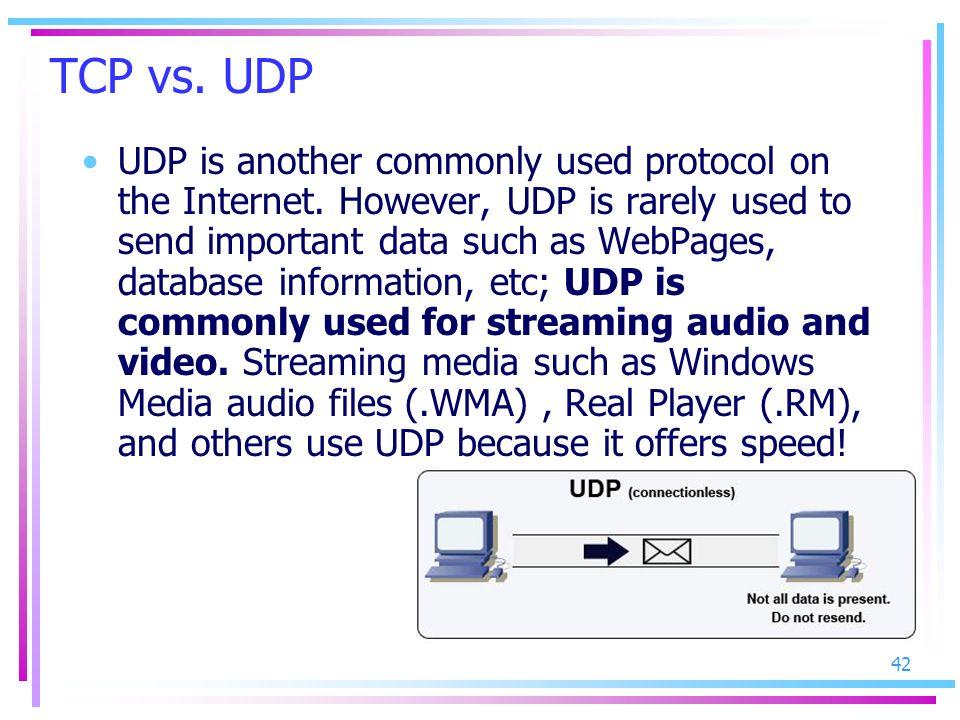 TCP vs. UDP