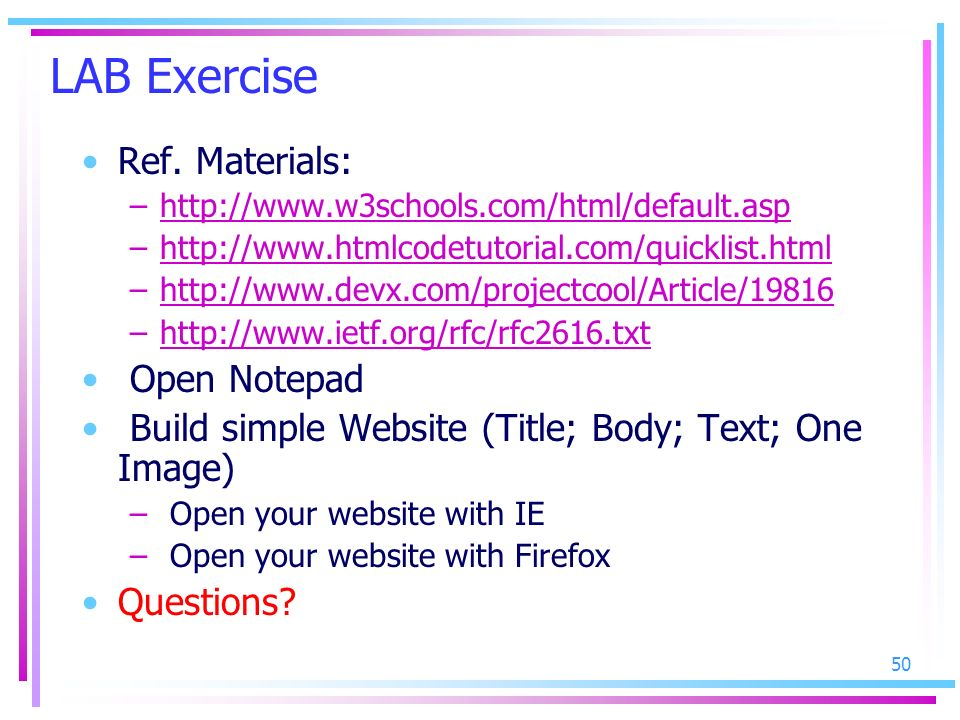 LAB Exercise Ref. Materials: Open Notepad