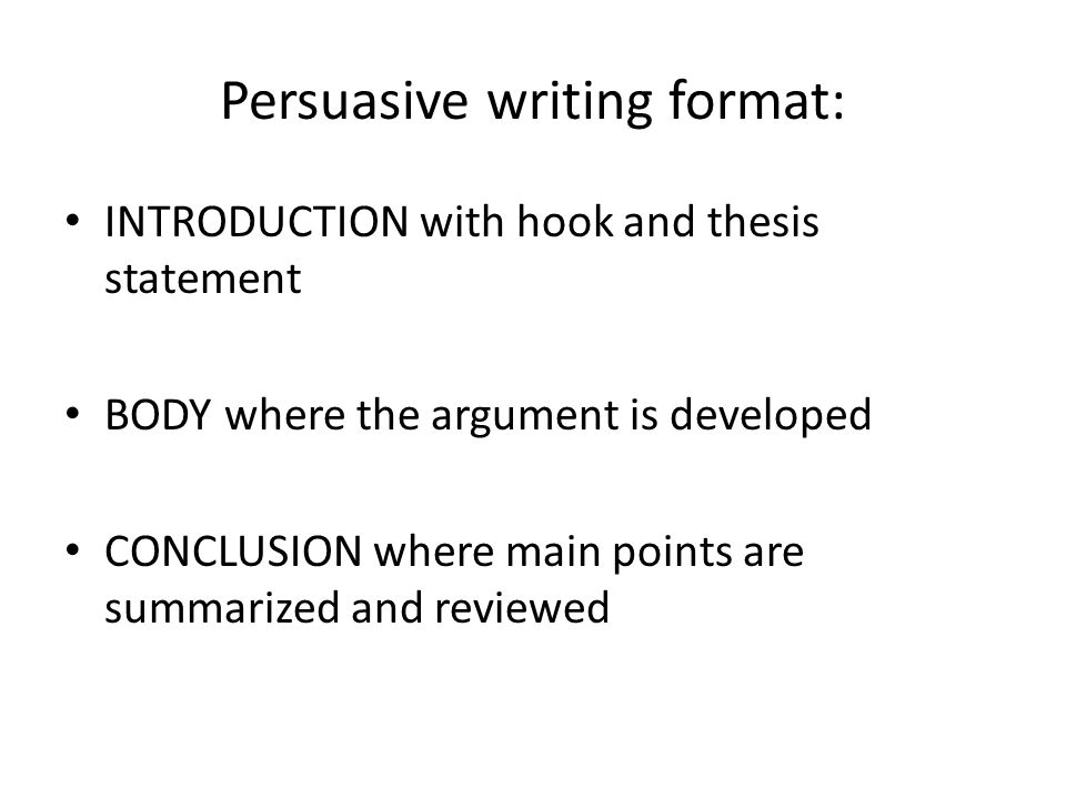 introduction thesis body argument support conclusion An essay is made up of the introduction, the body, and the conclusion  and it  clearly states the argument or point you want to prove in your paper, and,  it is  where you discuss the evidence that you have in support of your thesis statement.