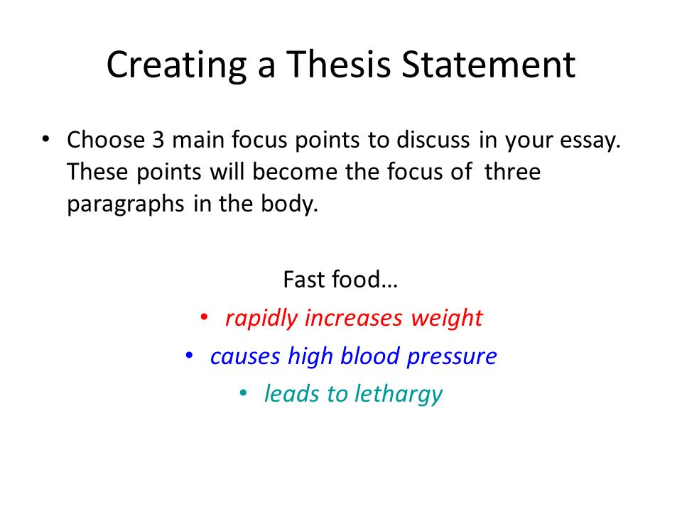 three thesis statements