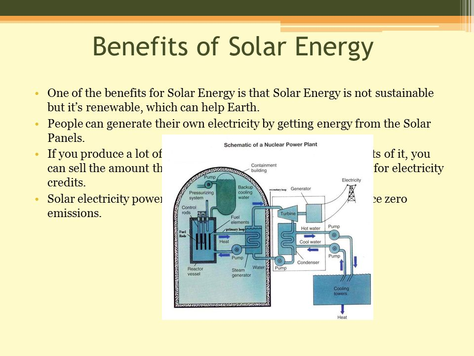 essay on the benefits of solar energy An essay or paper on benefits of solar energy industry in the usa solar technology refers to the technology of using the sun's rays of energy in order to provide heat, light, heated.