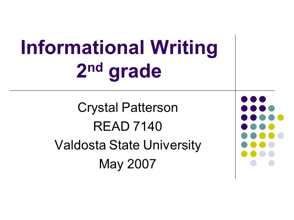 Informational Writing 2nd grade