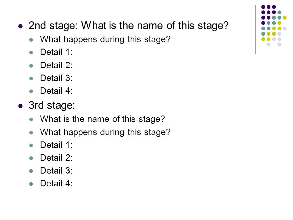2nd stage: What is the name of this stage
