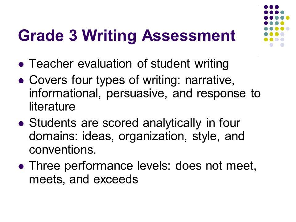 Grade 3 Writing Assessment