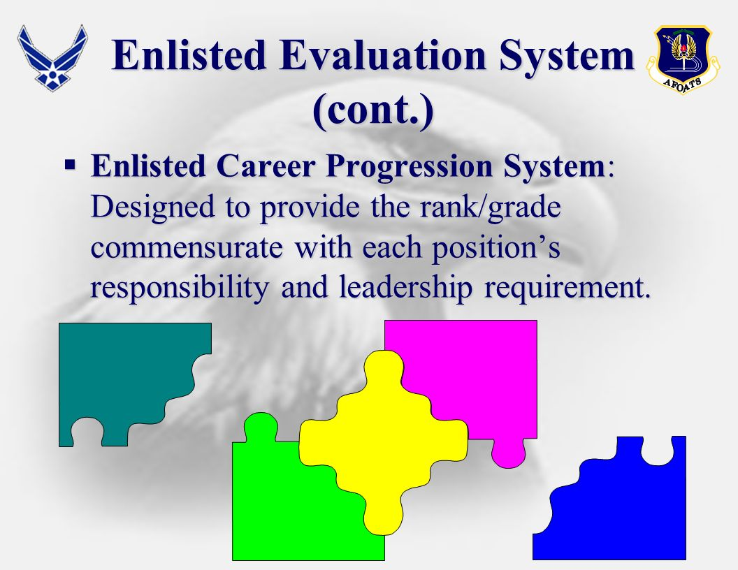 Enlisted Evaluation System (cont.)