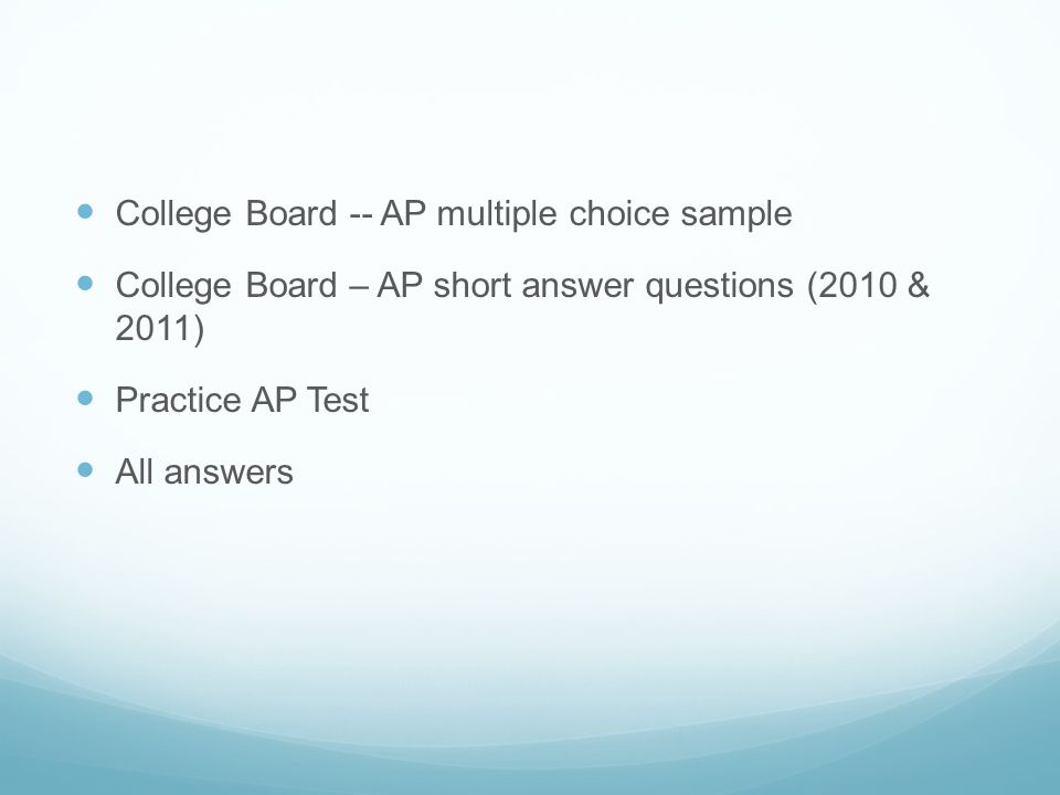 college board ap environmental essays Browse a list of the different credit-granting exams that clep offers.
