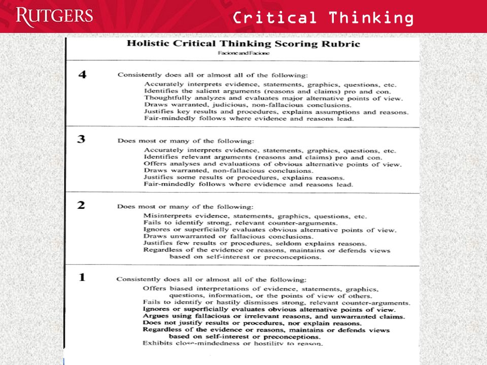 Critical Thinking and the Use of Nontraditional Instructional