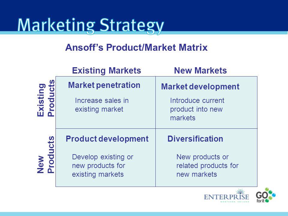 Ansoff's Product/Market Matrix