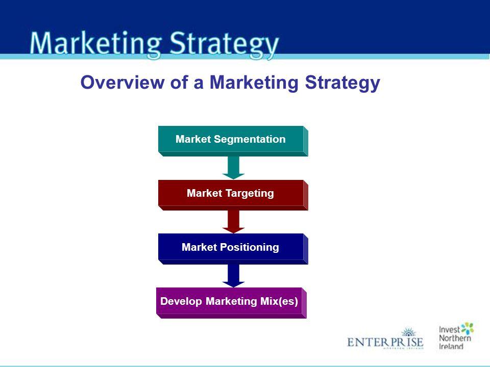 Develop Marketing Mix(es)