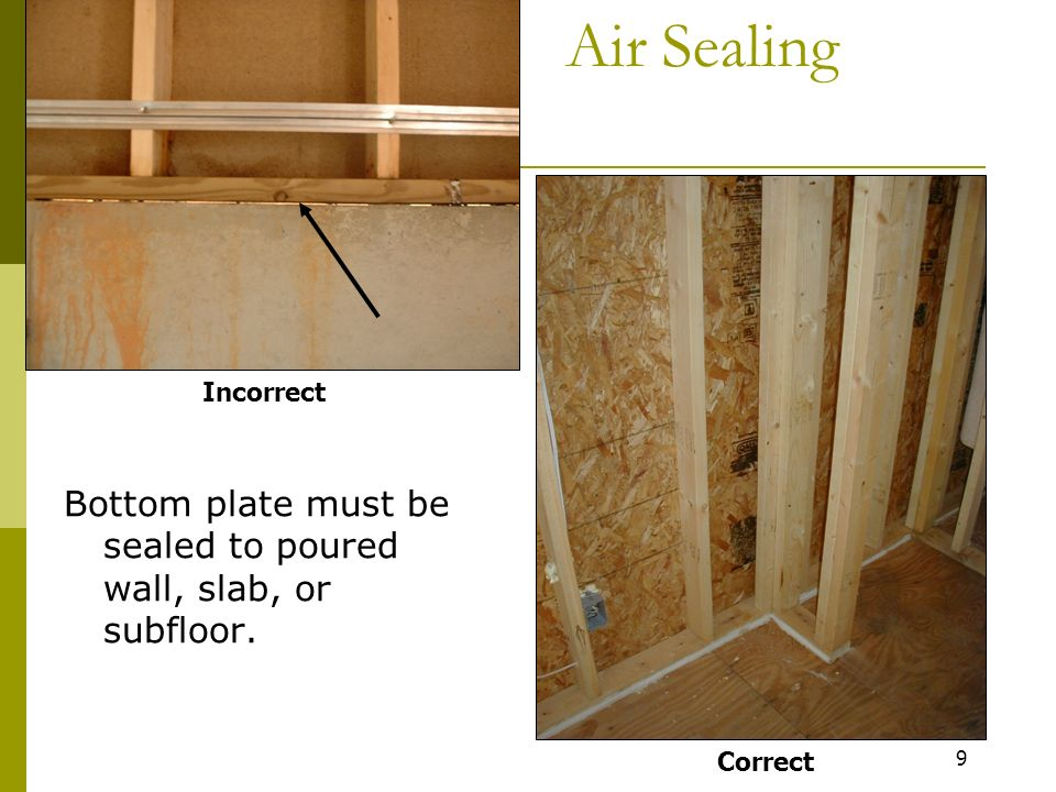 Bottom Plate To Slab : Insulation and infiltration ppt video online download