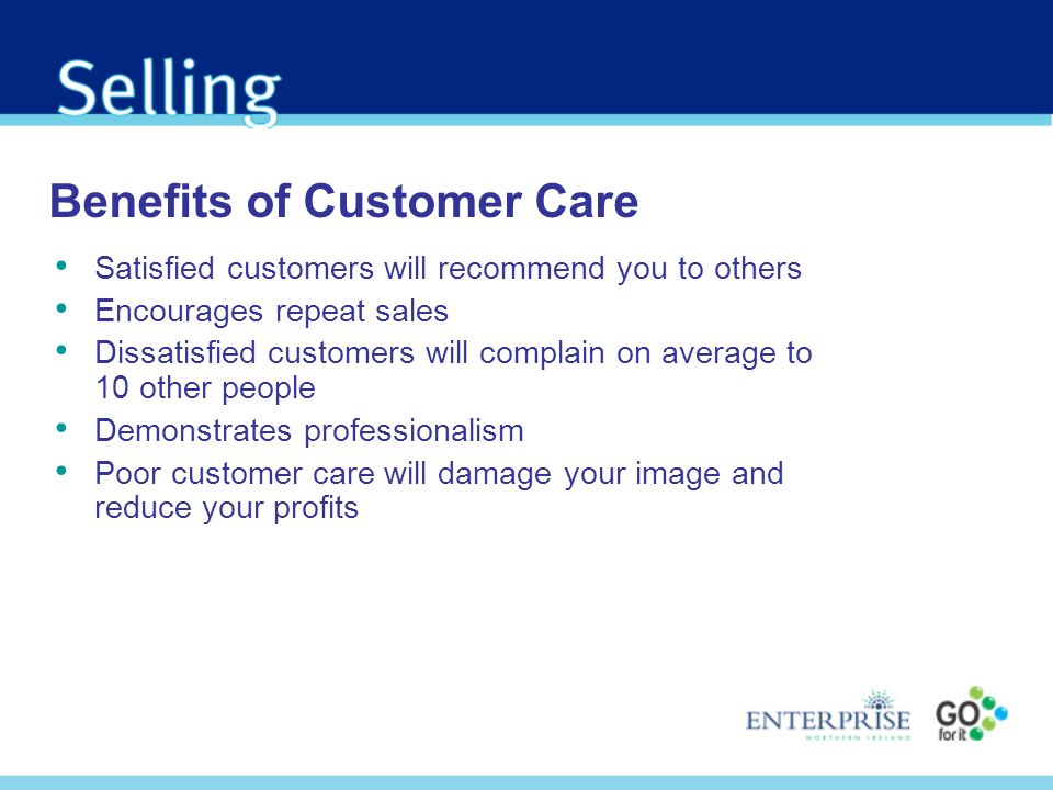 Benefits of Customer Care