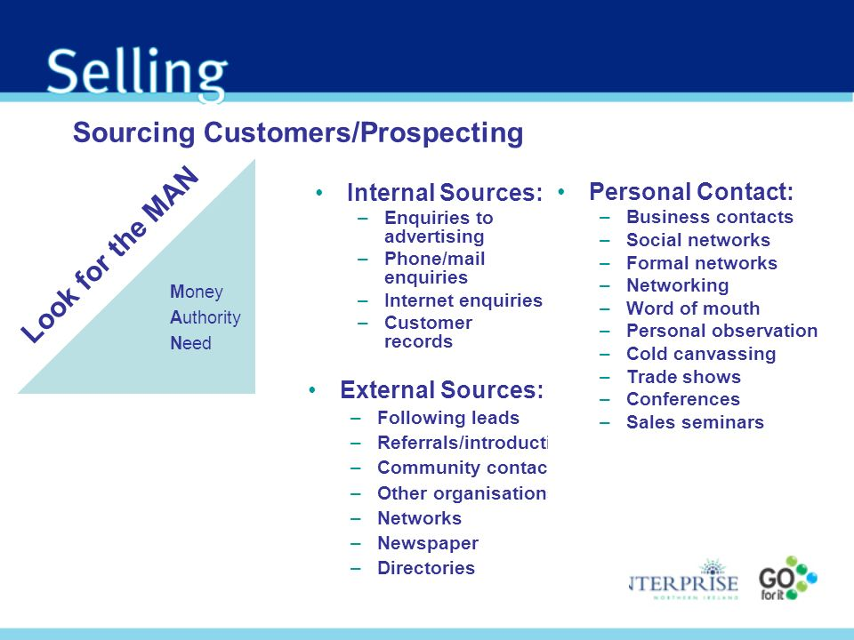 Sourcing Customers/Prospecting