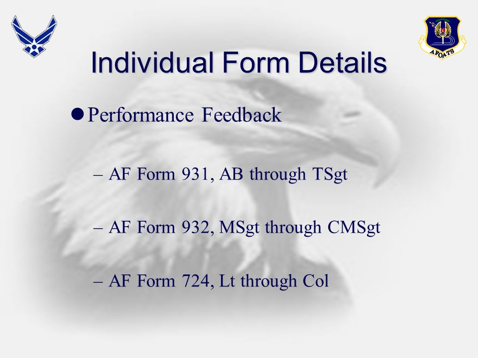 Individual Form Details