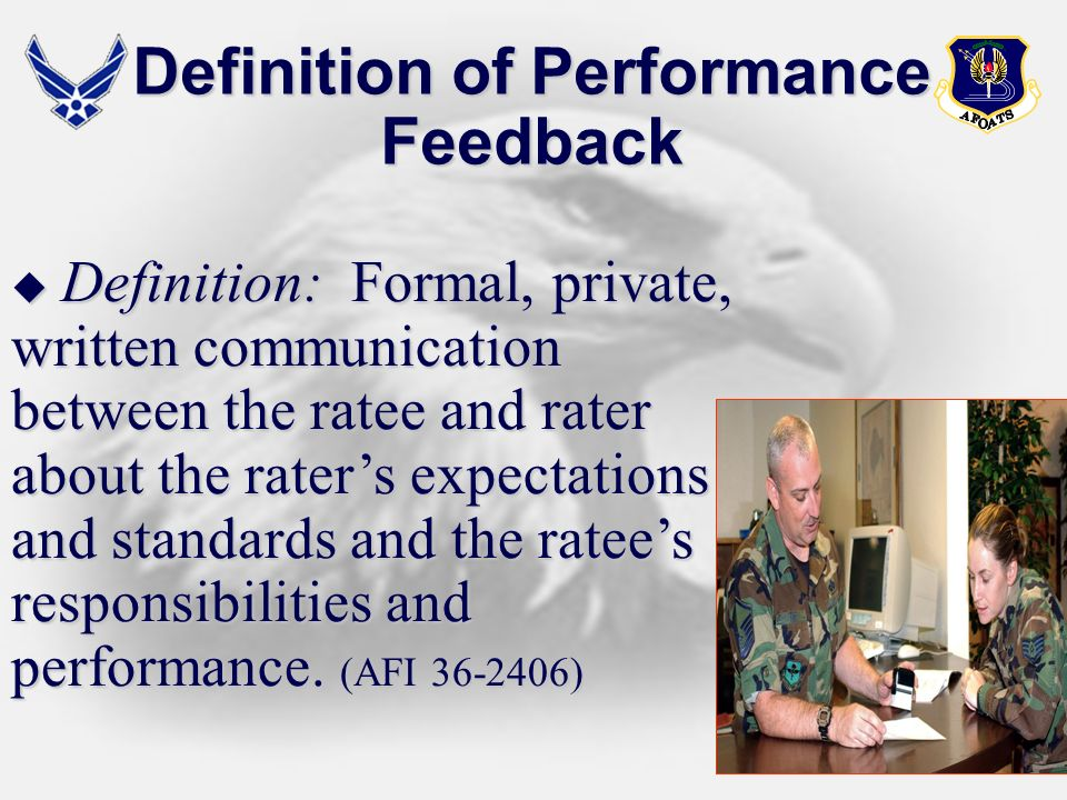 Definition of Performance Feedback