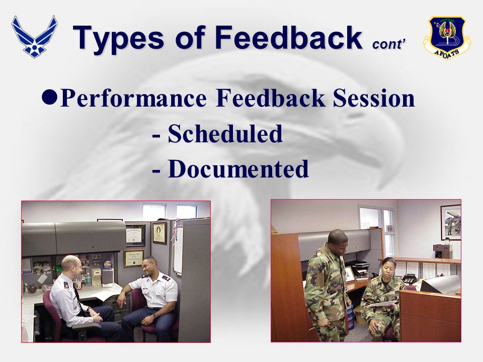 Types of Feedback cont'