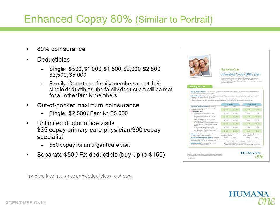Enhanced Copay 80% (Similar to Portrait)