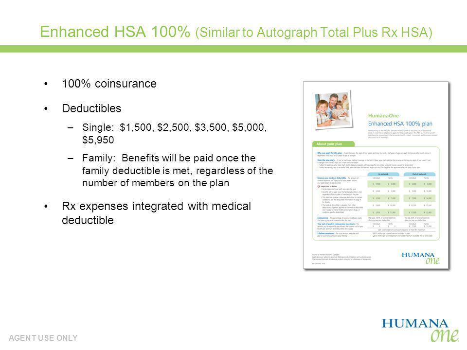 Enhanced HSA 100% (Similar to Autograph Total Plus Rx HSA)
