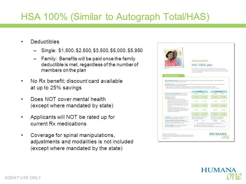 HSA 100% (Similar to Autograph Total/HAS)