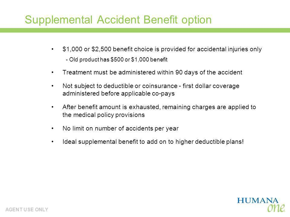 Supplemental Accident Benefit option