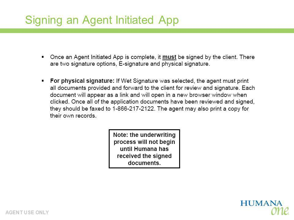 Signing an Agent Initiated App