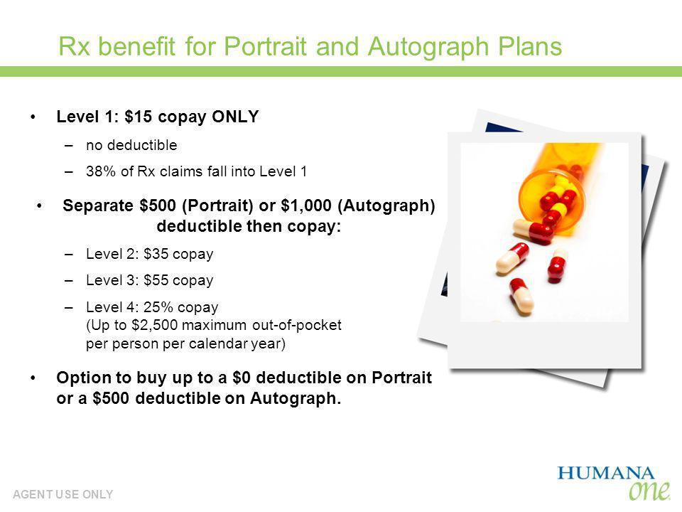 Rx benefit for Portrait and Autograph Plans