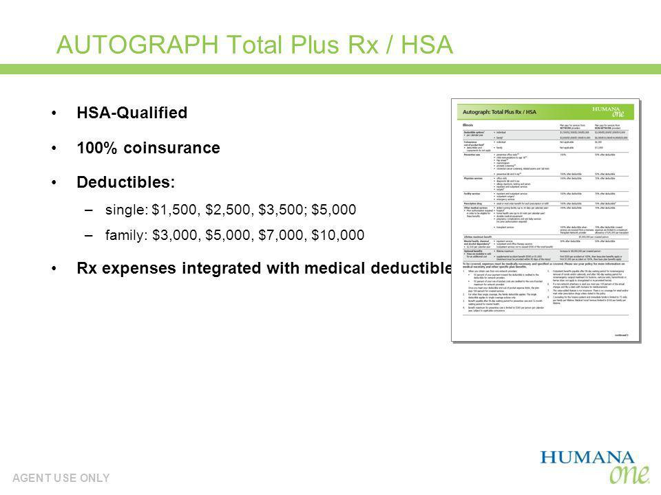 AUTOGRAPH Total Plus Rx / HSA