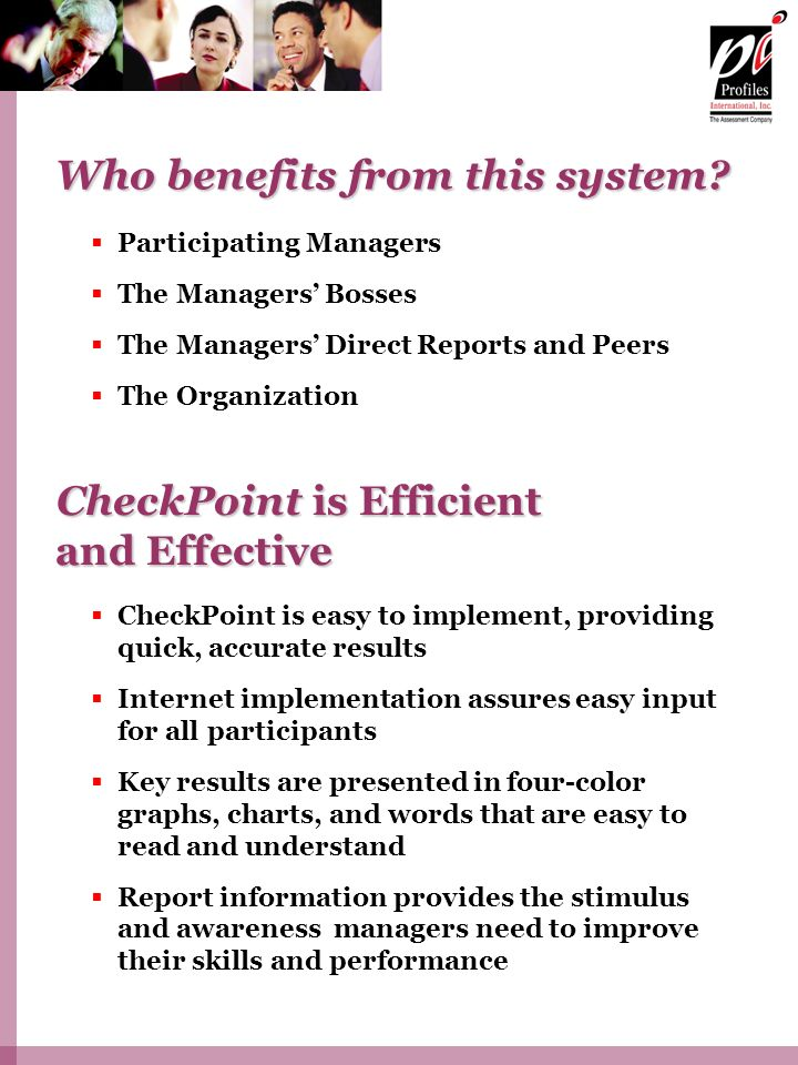 Who benefits from this system
