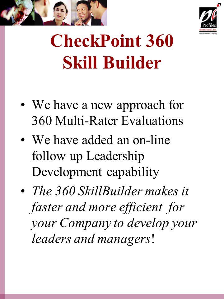CheckPoint 360 Skill Builder