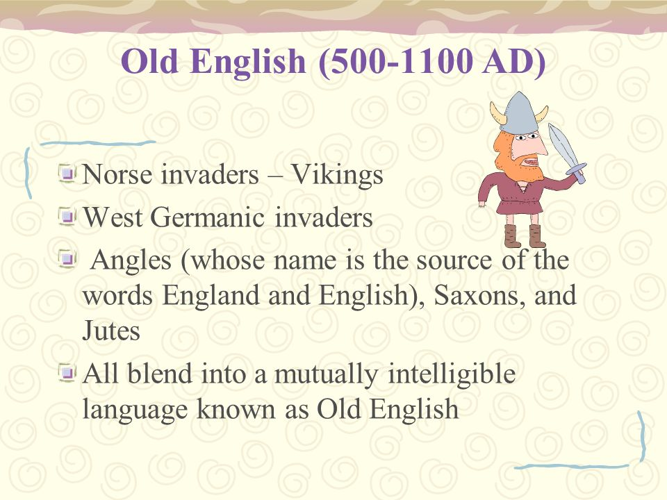 Old english 500 1100 ad essay