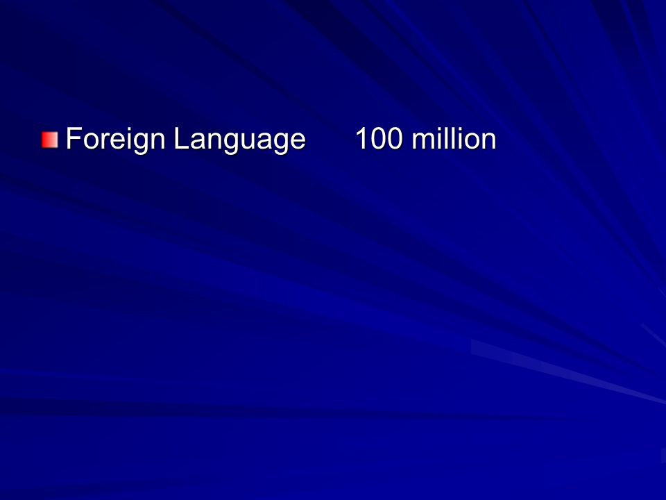 Foreign Language 100 million