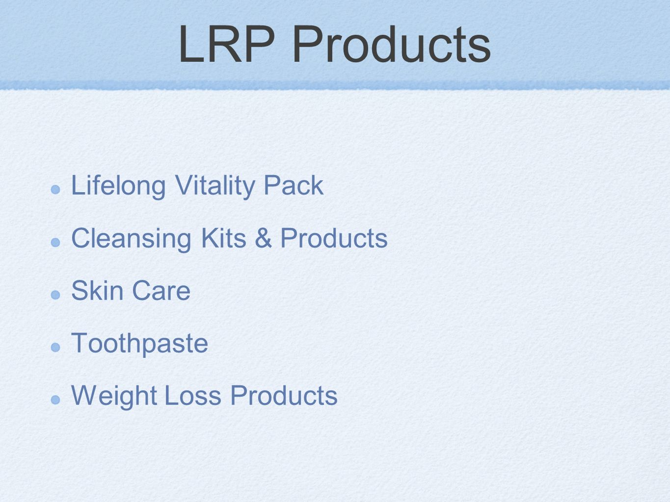 LRP Products Lifelong Vitality Pack Cleansing Kits & Products