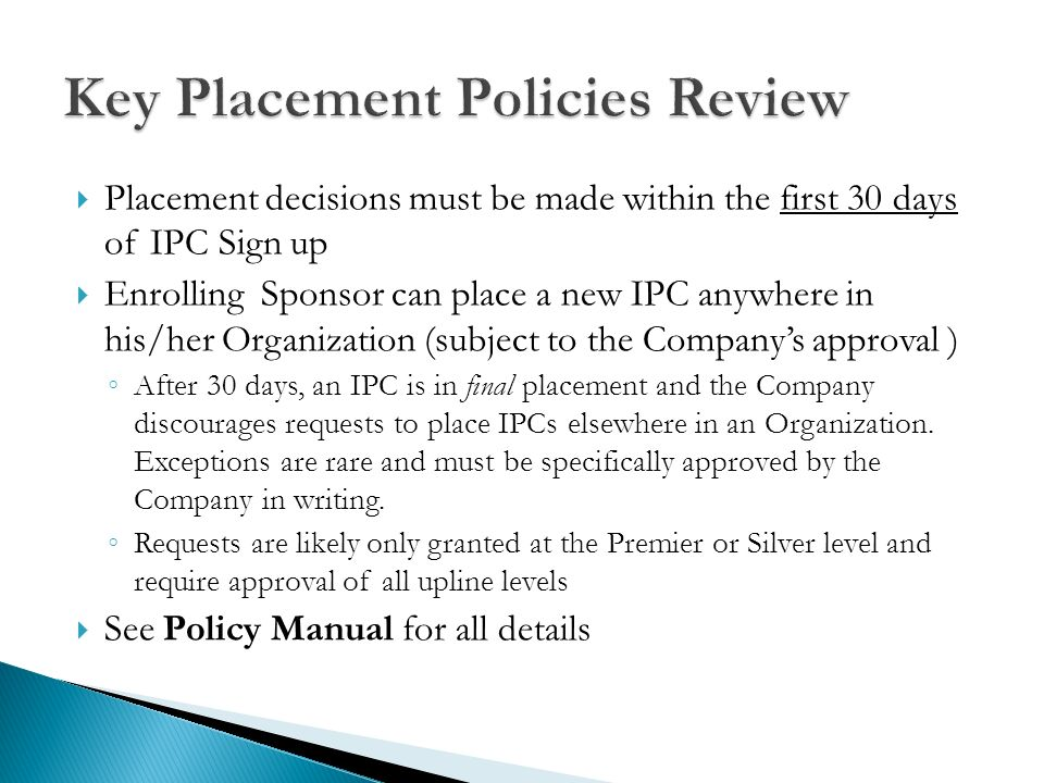 Key Placement Policies Review