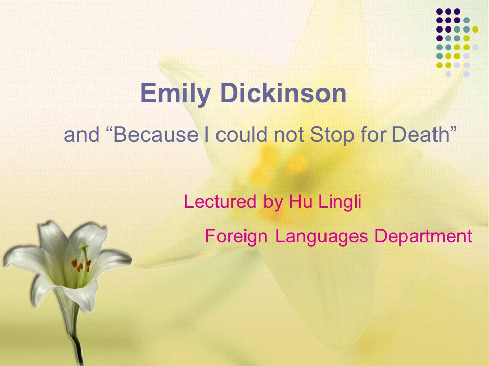 emily dickinsons view of death