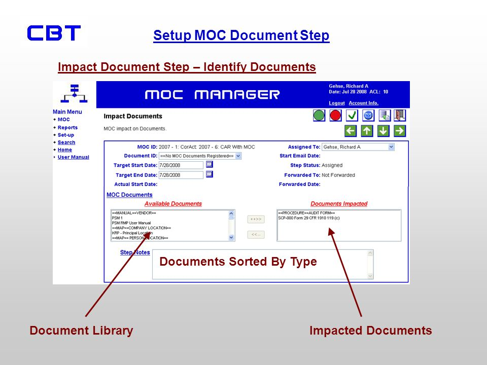 Impact Document Step – Identify Documents