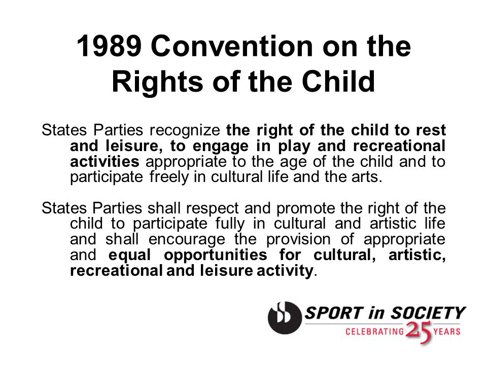 1989 Convention on the Rights of the Child