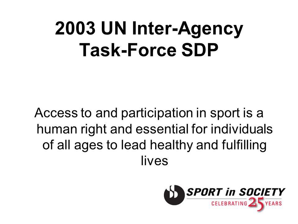 2003 UN Inter-Agency Task-Force SDP