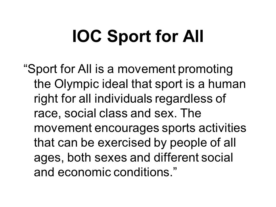 IOC Sport for All