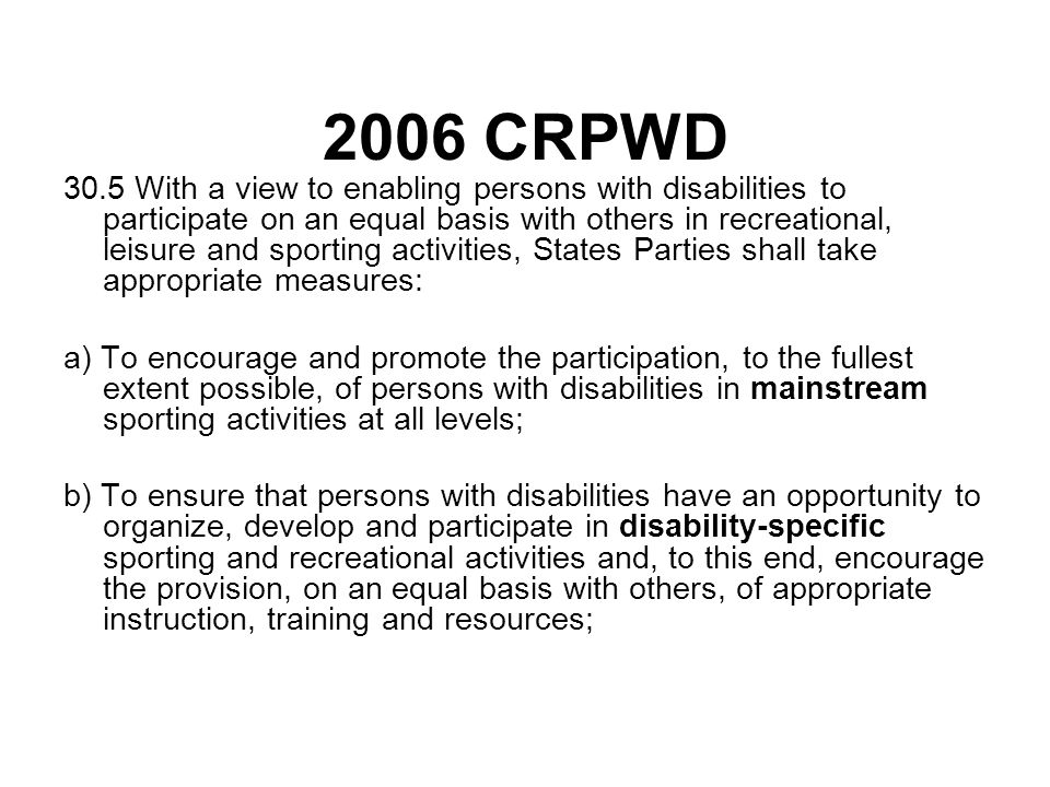 2006 CRPWD