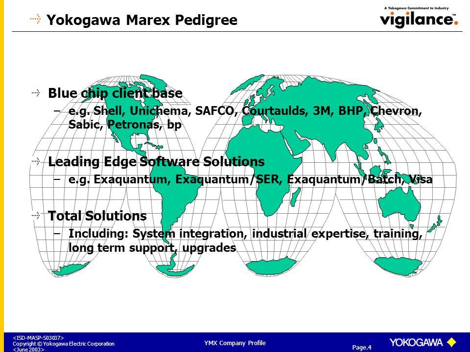 Yokogawa Marex Company Profile - ppt download