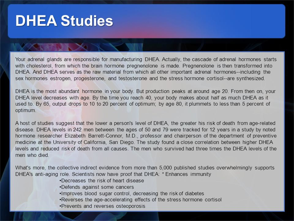 DHEA Studies