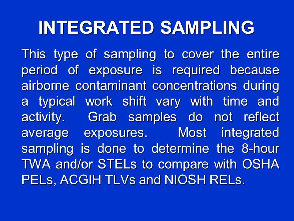 INTEGRATED SAMPLING