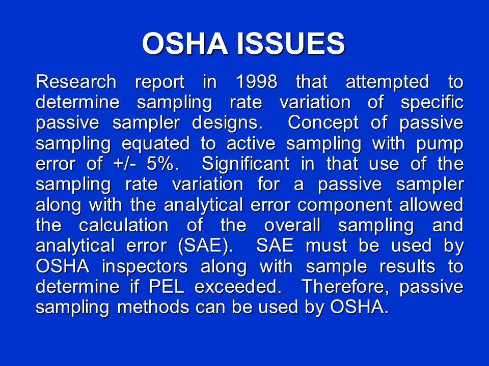 OSHA ISSUES